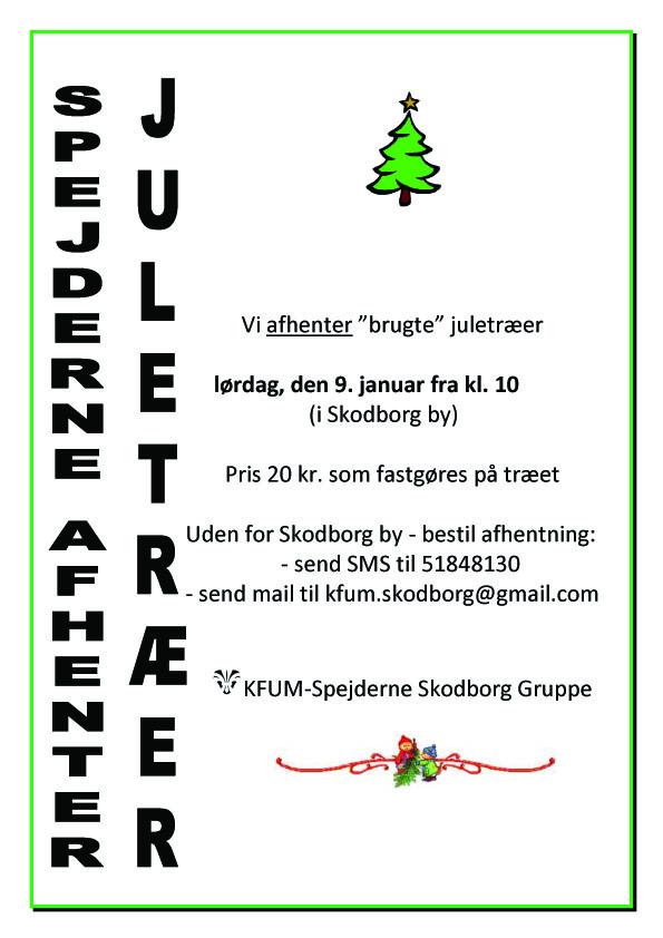 Afhentning af juletræer 2015