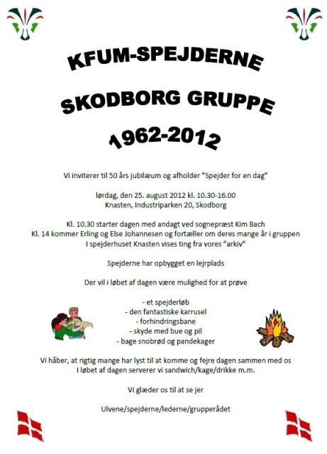 Spejderne i Skodborg fejrer 50 års jubilæum! – Skodborg
