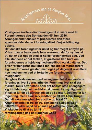 Invitation til foreningernes dag