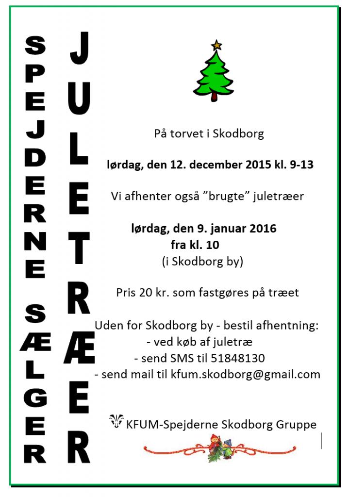 Spejderne sælger juletræer